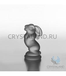 Сувенир в виде зайца из матового хрусталя 8,5 см
