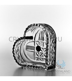 Вазочка хрустальная для ювелирных украшений и бижутерии 4 см