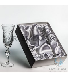Свадебные хрустальные бокалы в подарочной коробке, 2шт, 220 гр.