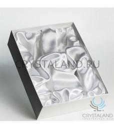 Коробка для свадебных бокалов (белая) 29 см
