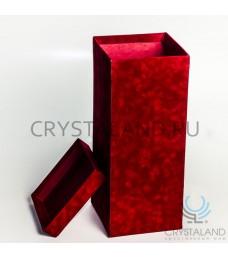 Подарочная коробка красного цвета для вазы 29 см