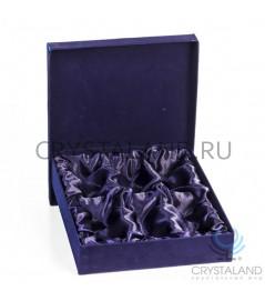 Подарочная коробка под 6 граненых рюмок по 50 гр. (бархат) 28 см