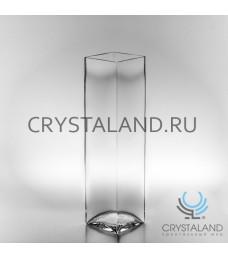 Стеклянная ваза-квадрат для цветов 40см.