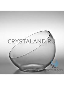 Стеклянная ваза в виде шара 18см.