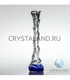 """Декоративная ваза из цветного стекла """"Капля""""  45,5см."""