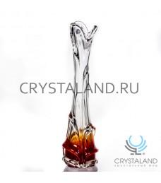 """Декоративная ваза из цветного стекла """"Капля""""  36см."""