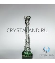 """Декоративная ваза из цветного стекла """"Капля""""  35,5см."""