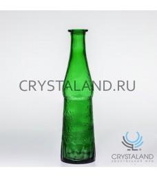 "Хрустальная декоративная ваза для цветов ""Бутылка"" (стекло) 29см."