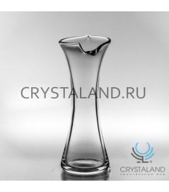 Стеклянная декоративная ваза для цветов 32см.