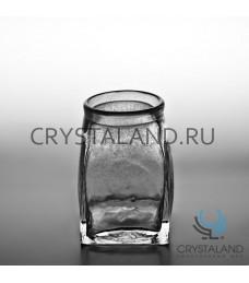 """Стеклянная декоративная ваза для цветов """"Бутыль"""" 16.5см."""
