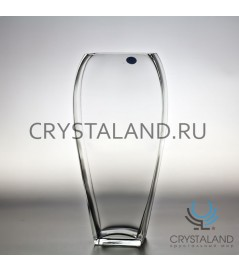 Стеклянная ваза для цветов 32см.