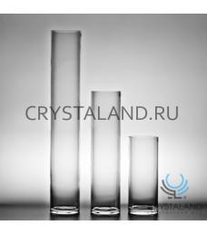 Стеклянная ваза для цветов в виде цилиндра 50см.