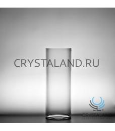 Стеклянная ваза-цилиндр для цветов 15см.