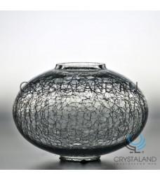 Стеклянная ваза для цветов 12см.