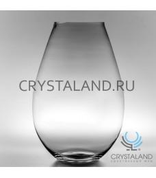 Стеклянная ваза для цветов 44см.
