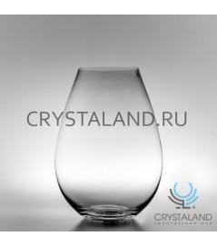 Стеклянная ваза для цветов 37см.