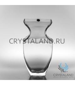 Стеклянная ваза для цветов 30см.