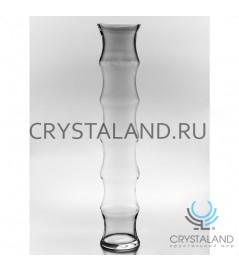 """Стеклянная ваза для цветов """"Бамбук"""" 60см."""