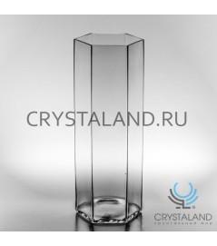 """Стеклянная ваза для цветов """"Грани"""" 42см."""
