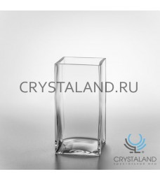 "Стеклянная ваза для цветов ""Квадрат"" 20см."