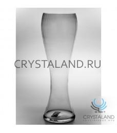 Стеклянная ваза для цветов необычной и интересной формы 50 см.