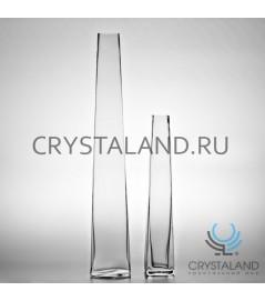 Стеклянная ваза для цветов Пирамида 59см.