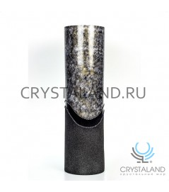 """Стеклянная ваза """"Каприз"""" с ручной росписью авторской работы 50 см."""
