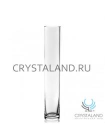 Стеклянная ваза- колба для одного цветка 30см.