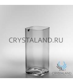 Стеклянная ваза-квадрат 25см.