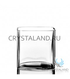 Стеклянная ваза квадрат 11см.