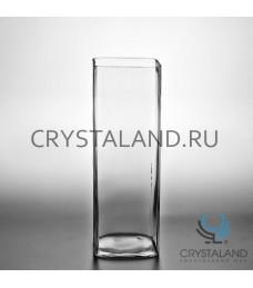 Стеклянная ваза-квадрат для цветов 27,5см.