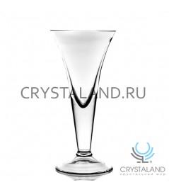 Стеклянная ваза- рюмка для цветов 25см.
