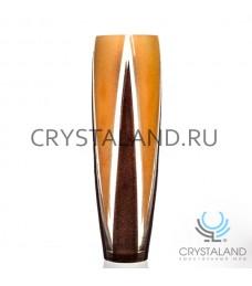 """Стеклянная ваза """"Степ"""" с ручной росписью авторской работы 50 см."""