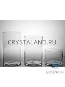 Стеклянная ваза-цилиндр для цветов 35см.