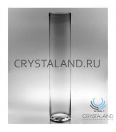 Стеклянная ваза-цилиндр для цветов 50см.