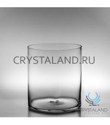 Стеклянная ваза-цилиндр для цветов 25см.