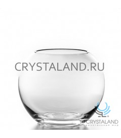 Стеклянная ваза в виде шара, диаметр 12 см.