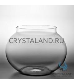 "Стеклянная ваза в виде шара ""Аквариум"" 24см."