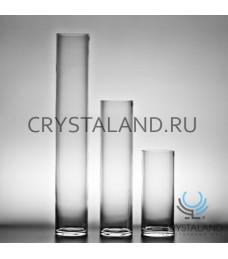 Стеклянная ваза-цилиндр для цветов 20см.